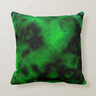 Funky Neon Green Emerald Halloween Abstract Pillow