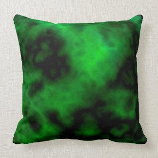 Funky Neon Green Emerald Halloween Abstract Throw Pillow