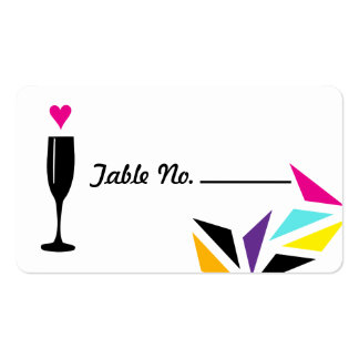 Funky Neon Wedding Tablecard Double-Sided Standard Business Cards (Pack Of 100)