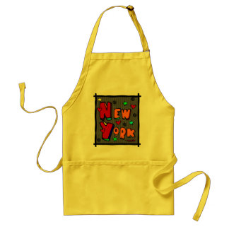 Funky New York, Art In Frame, Multi-Color Adult Apron