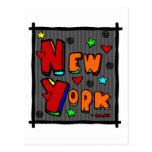 Funky New York, Art In Frame, Multi-Color Post Cards