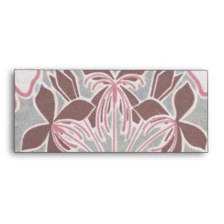 funky nouveau flowers design envelope