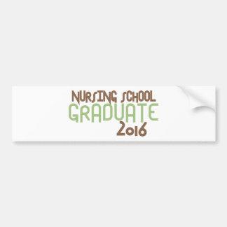 Funky Nursing School Graduate 2016 (Green) Bumper Sticker