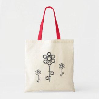 Funky Nuts&Screws Flowers Bag