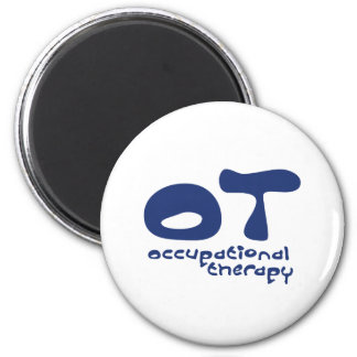 Funky Occupational Therapy 2 Inch Round Magnet