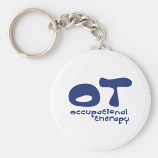 Funky Occupational Therapy Basic Round Button Keychain