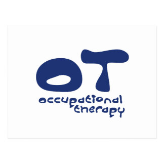 Funky Occupational Therapy Postcard