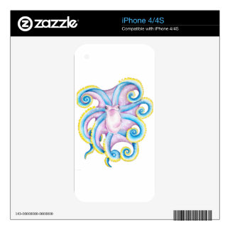Funky Octopus Decal For iPhone 4