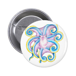 Funky Octopus Pinback Button