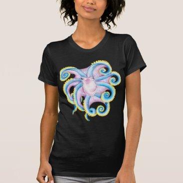 Beach Themed Funky Octopus T-Shirt