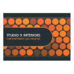 Funky Orange Dots Studio Interior Business Cards