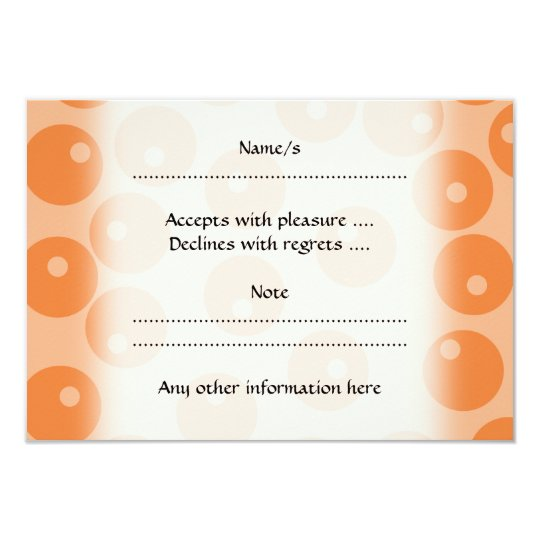 Funky orange retro pattern. card