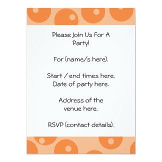 "Funky orange retro pattern. 6.5"" x 8.75"" invitation card"
