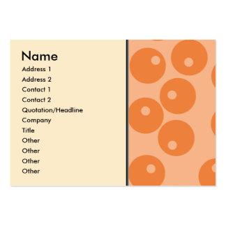 Funky orange retro pattern. large business card
