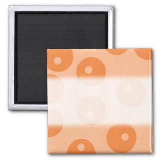 Funky orange retro pattern. refrigerator magnets