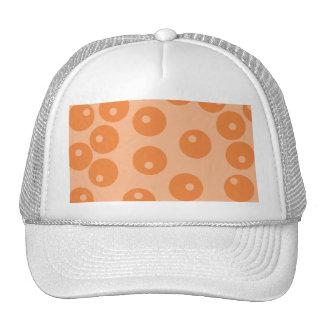 Funky orange retro pattern. trucker hat
