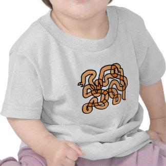 Funky Orange Snake Design. T Shirt