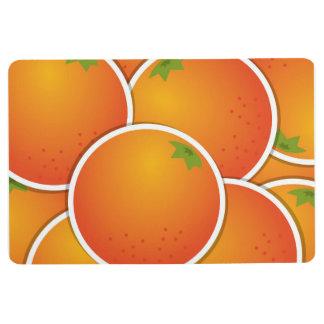 Funky oranges floor mat