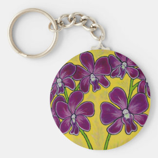 Funky Orchid Key Chain