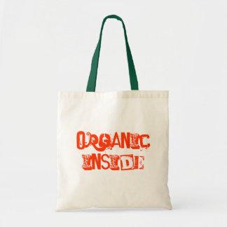 funky organic inside reusable grocery shopping bag
