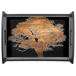 Funky Overlay Wood Tree Serving Tray