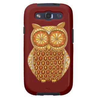 Funky Owl Abstract Galaxy S3 Cases