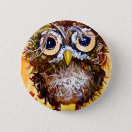 Funky owl girl button