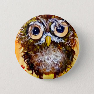 Funky owl girl button