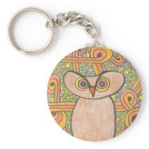 Funky Owl Keychain