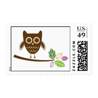 funky owl postage