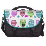 funky owls commuter bag