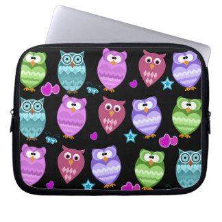 funky owls computer sleeve