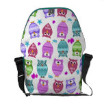funky owls courier bag