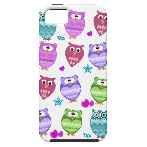 funky owls iPhone 5 case
