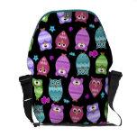 funky owls messenger bag