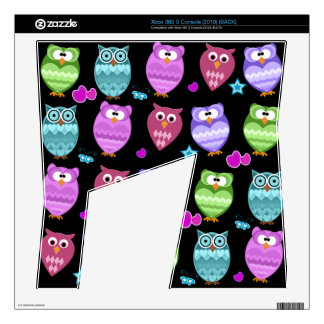 funky owls skin for xbox 360 s