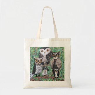 Funky Owls Tote Bags