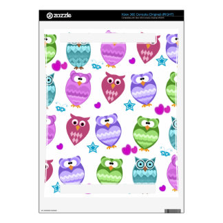 funky owls xbox 360 decal