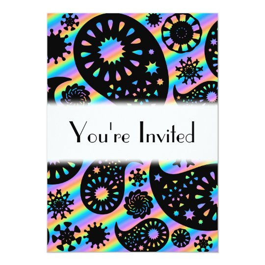 Funky Paisley Design. Card