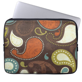 Funky Paisley Texture Computer Sleeves