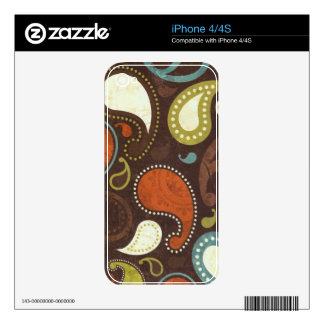Funky Paisley Texture Decal For The iPhone 4