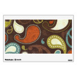 Funky Paisley Texture Wall Skins