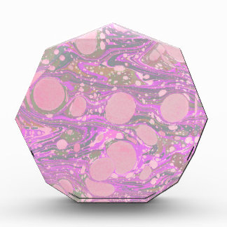 Funky Pale Pink Marble Paper Awards