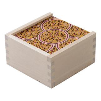 Funky passion fruit wooden keepsake box