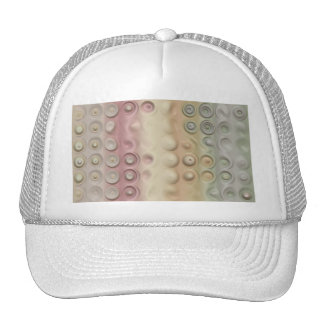 Funky Pastel Creamy Circles and Stripes Hat