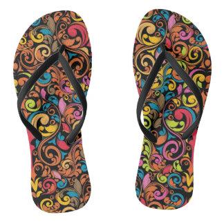 Funky pattern flip flops