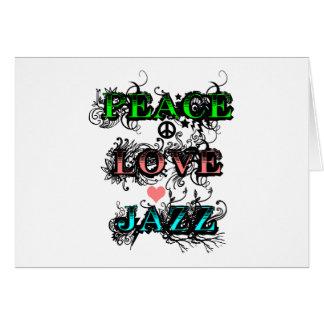 Funky Peace Love Jazz Card