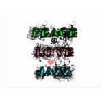 Funky Peace Love Jazz Post Cards