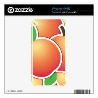 Funky peach iPhone 4 decal