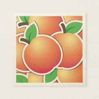 Funky peach paper napkin